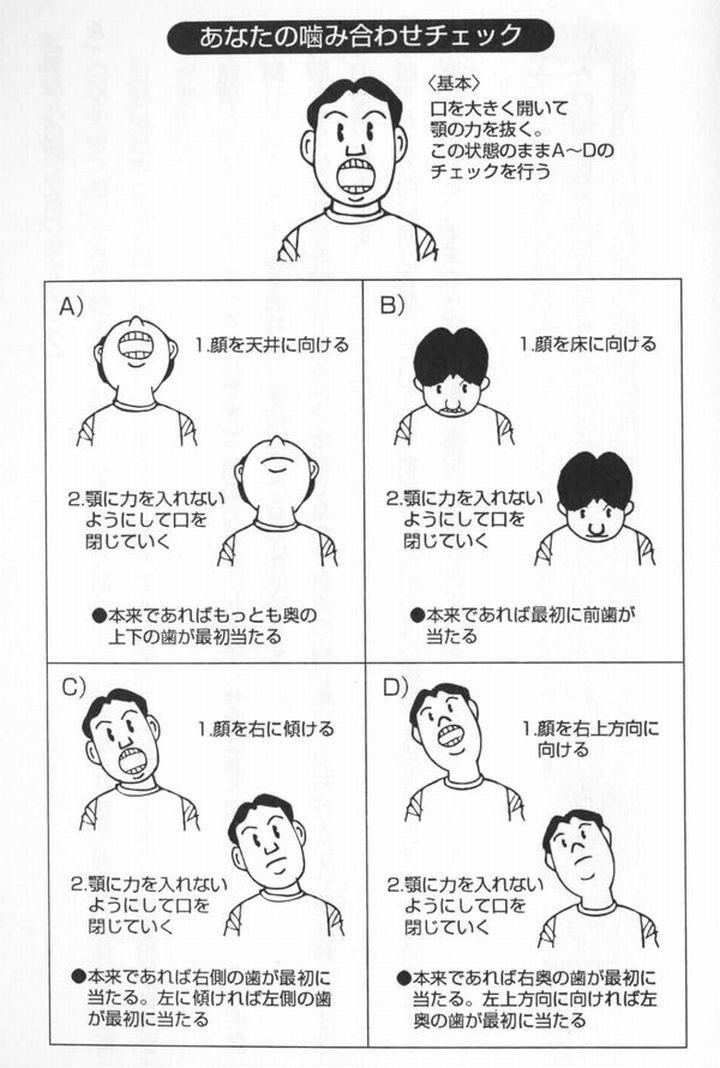 歯の噛み合わせチェック法1