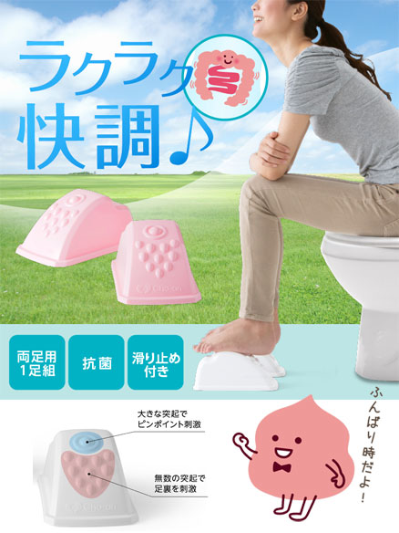 写真:Cho-an真野先生の快調トイレ足置き