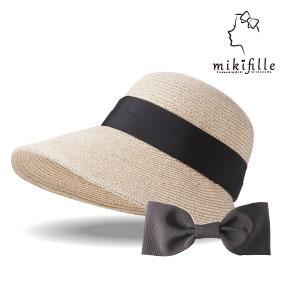 写真:mikifille 白川みきのUVカットおリボン帽子