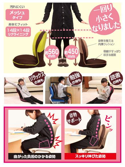 写真:背筋がGUUUN美姿勢座椅子コンパクト
