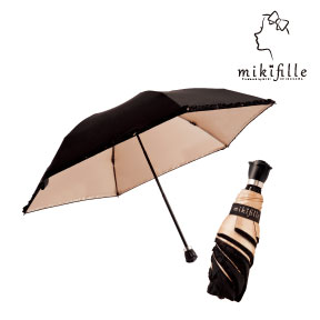 写真:mikifille 白川みきのおリボンUVカット折りたたみ日傘