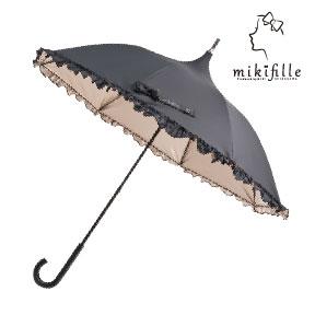 写真:【販売終了】mikifille 白川みきのおリボンUVカット日傘
