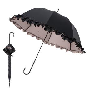 写真:【販売終了】mikifille 白川みきのおリボンUVカットフリル日傘